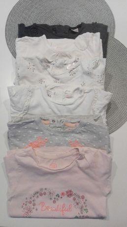 Zara koszulki bluzki. R. 92