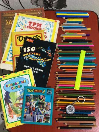 Карандаши цветные игра Toy story3 книги сказки дзюдо фокусы компас