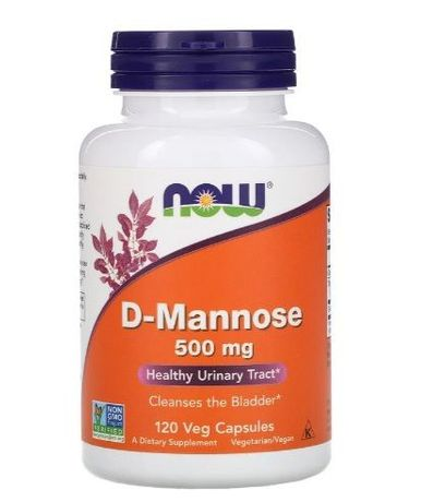 NOW FOODS D-MANNOSE 500 мг 120 капсул