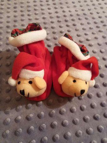 Buciki buty mikołaj świąteczne dla malucha 9,5cm