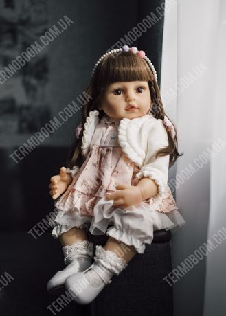 Кукла лялька Реборн 55 см силиконовая reborn большие можно купать