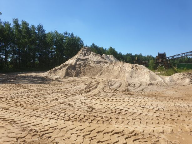 Piasek piach żwirownia płukany siany ziemia ogrodowa