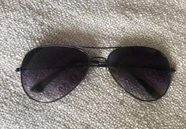 Okulary pilotki czarne