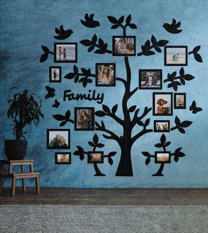 Подарок родителям, подарок маме, дерево с фоторамками, дерево