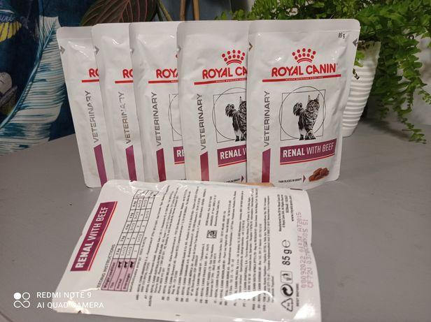 Royal canin veterinary diet renal z wołowiną, karma dla kota