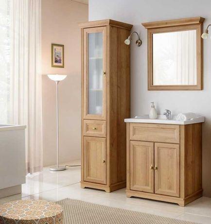 Meble łazienkowe Palace : słupek wysoki , szafka pod umywalkę , lustro