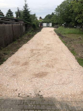 Utwardzanie dróg osiedlowych prywatnych Kruszywo drogowe Tłuczeń żwir