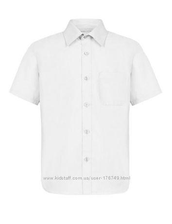 Рубашки M&S белая, серые, голубые на 13-14 лет 100% хлопок