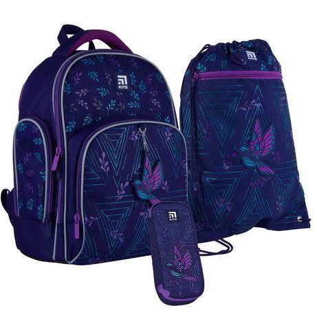 Школьный набор рюкзак + пенал + сумка Kite Beautiful bird K21-706S-2