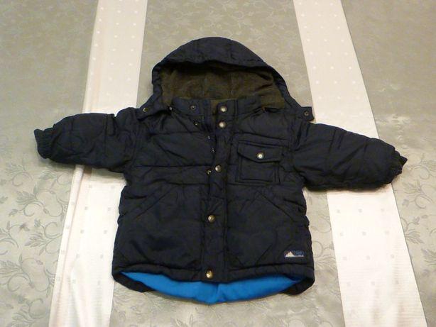 Ciepła zimowa kurtka chłopięca babyGap rozmiar 74