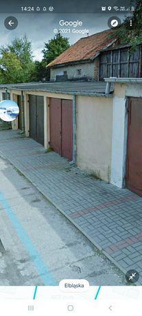 DUŻY garaż • z prądem • MUROWANY magazyn 30 m2 KORMORAN ul Elbląska