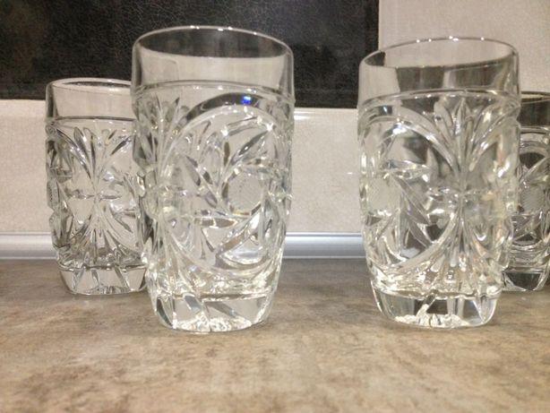 Набор стаканов хрустальных