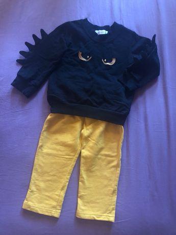 Крутой костюм набор (свитер + штаны) на мальчика 1-1,5года