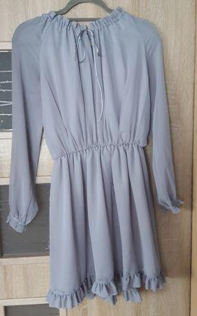 Jasno siwa sukienka
