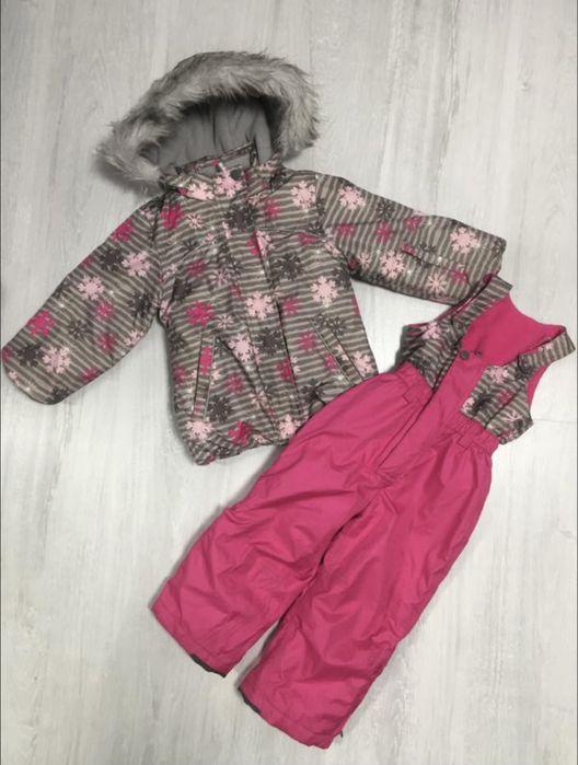 Зимний костюм для девочки ,курточка и комбинезон фирмы KikisKoko 92см Корюковка - изображение 1