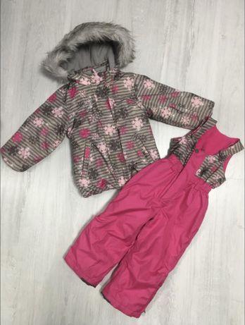 Зимний костюм для девочки ,курточка и комбинезон фирмы KikisKoko 92см