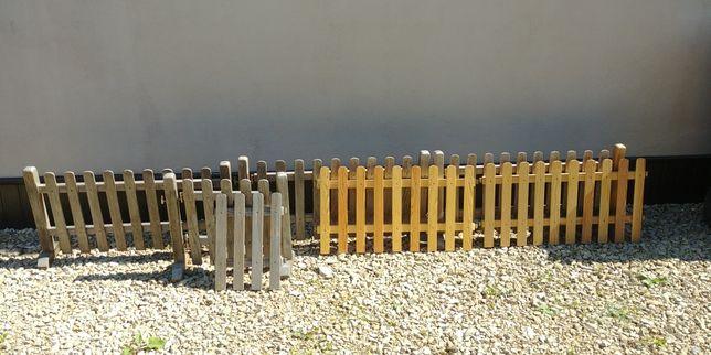 Płotek ogrodowy/ozdobny drewniany wolnostojący