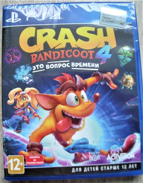 «Crash Bandicoot 4: Это Вопрос Времени» Новый Диск РS4, оригинал Киев - изображение 1