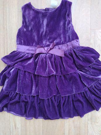 Sukienka wizytowa piękna 2-3 lata