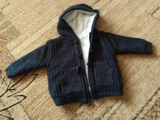 Bardzo ciepły gruby sweter sweterek kurtka bluza 86 ocieplany z misiem