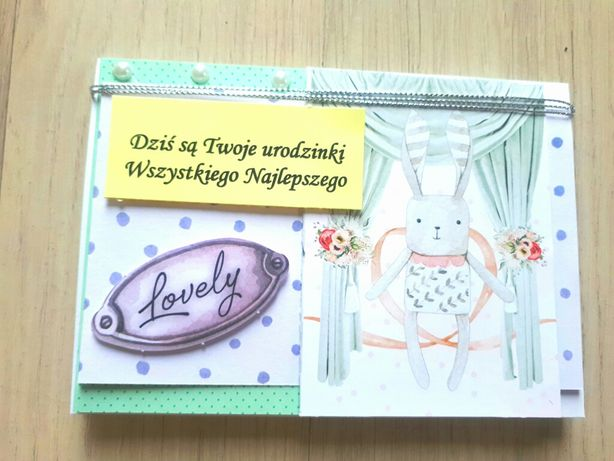Kartka urodzinowa dziecięca personalizacja koperta