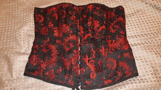 Корсет Nev Look черный с красным узором