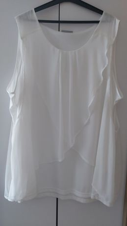 Zwiewna biała bluzeczka roz 54