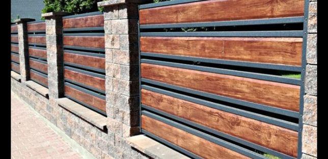 Заборы металические жалюзи ,ранчо ,дерево,кирпич,профлиста,под ключ