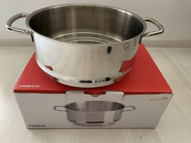 NOWY wkład garnek sitko do gotowania na parze Cook&Co Berghoff