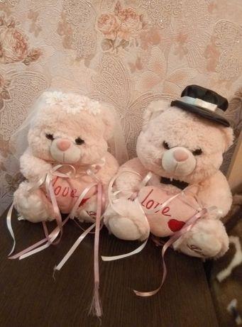 НОВЫЕ свадебные мишки, жених и невеста