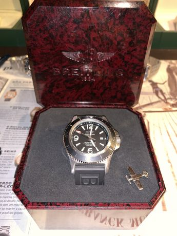 Breitling Superocean Automatic 44 TF SS Black Dial Swiss 2824
