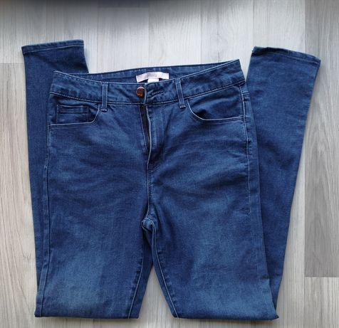 Jeansy nowe niebieskie rurki dopasowane dżinsy