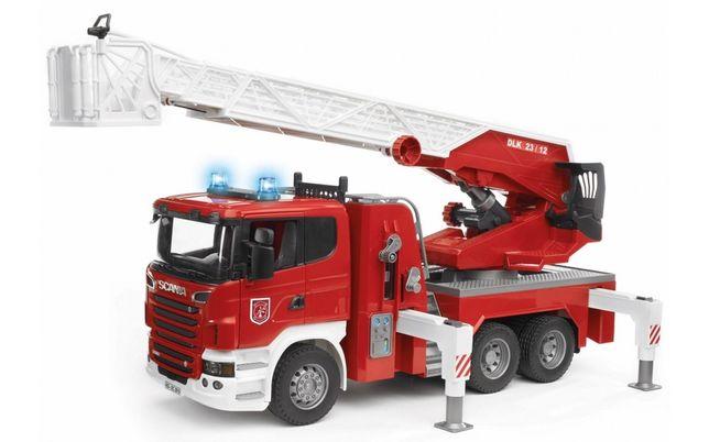 Пожарная машина SCANIA R-series с лестницей Bruder