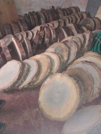 Bolachas de madeira