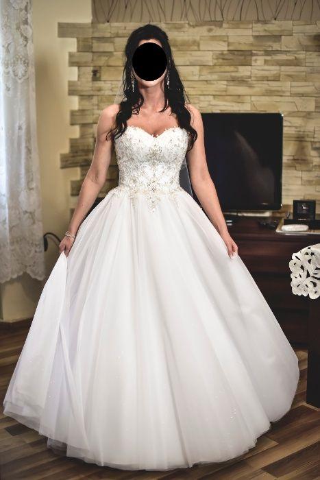 suknia ślubna Vanessa biała princessa Łódź - image 1