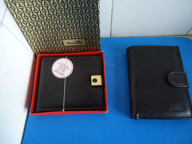Nowe!portfel,portmonetka,skóra kozia,naturalna,czarny,brąz