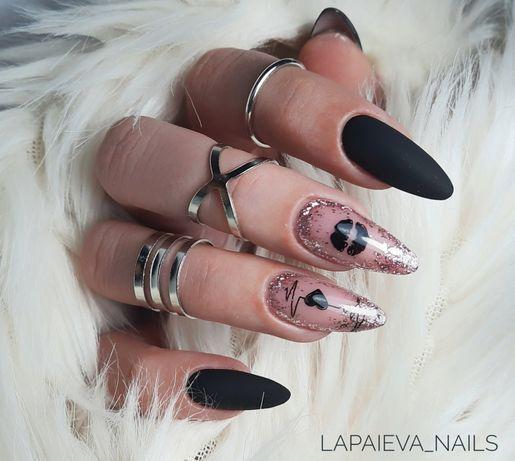 Наращивание коррекция ногтей