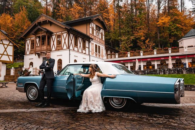 Cadillac DeVille 1966 - zabytkowy auto do ślubu, samochód wesele retro