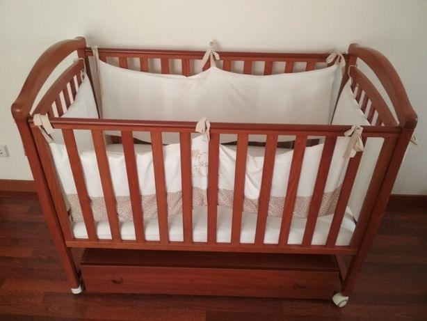 Детская кроватка Верес Соня ЛД-6 маятник с ящиком (бук)