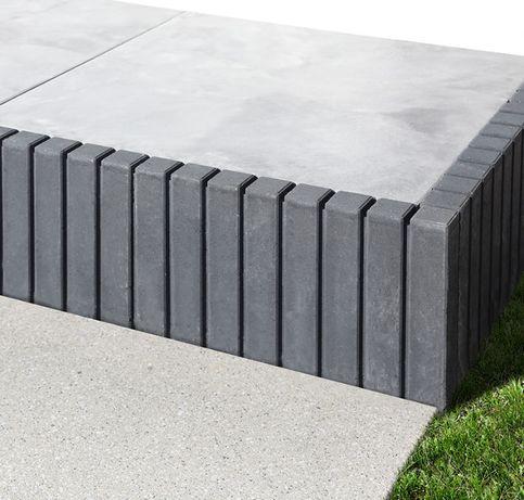 Obrzeże Tetron szare Bruk-Bet 6x51x30 cm