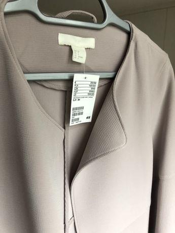 Narzuta płaszczyk H&M r 34 nowa beżowa
