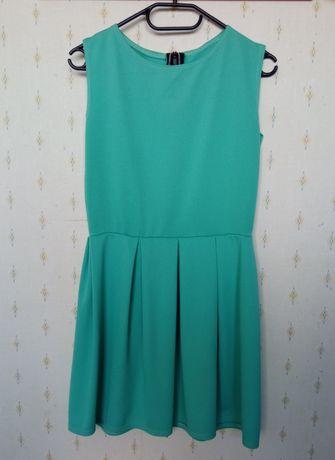 Zielona sukienka midi S