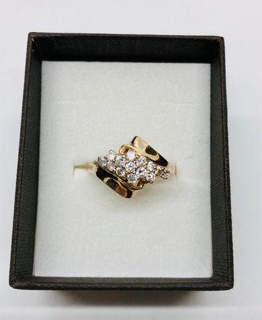 PIĘKNY pierścionek złoty z cyrkoniami pr. 5851 4K / waga: 3,73 gram