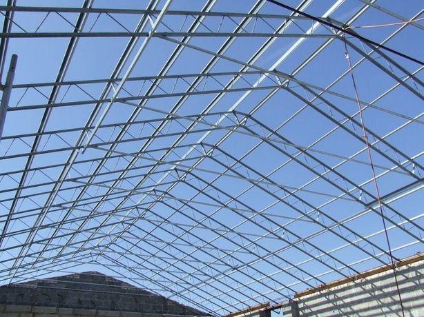 Kratownica dachowa konstrukcja stalowa hali wiązar wiaty obory garaż