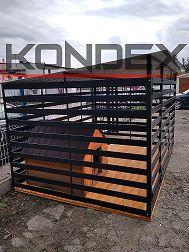 Kojec dla psa 3x2 palisadowy WZMOCNIONY Box dla psa Czarny Mocny KOJCE