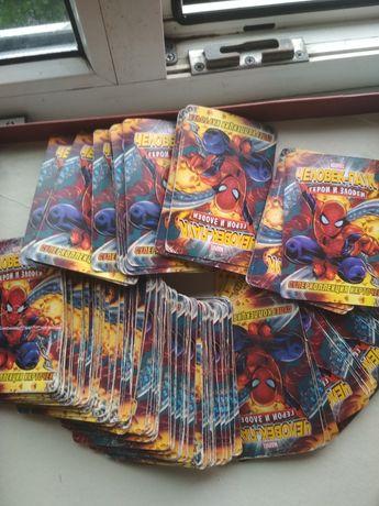 Карточки Человек Паук и другие