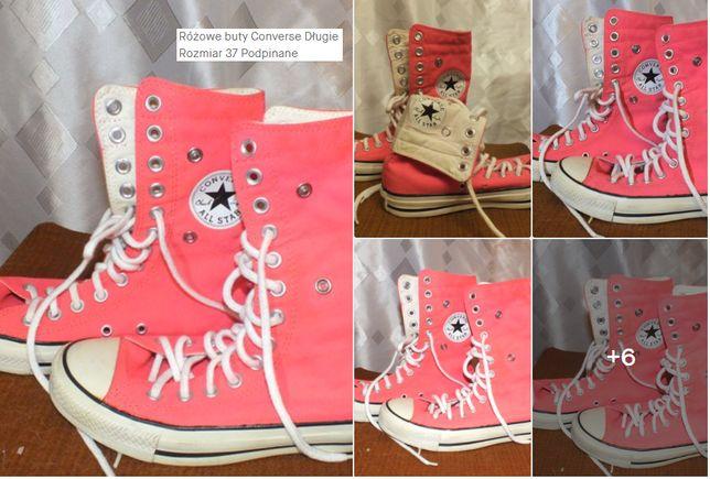 Różowe buty Converse Długie Rozmiar 37 Podpinane