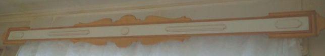 Деревянный карниз для тюлей, штор