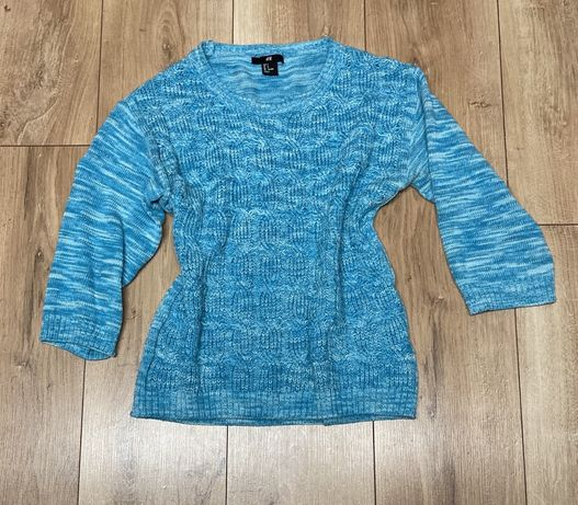 H&M sweter błękitny S 36