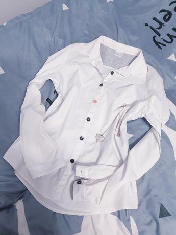 Koszula szare wstawki łaty L 40